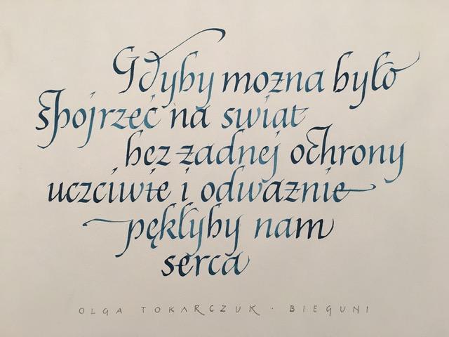 cytat z Olgi Tokarczuk