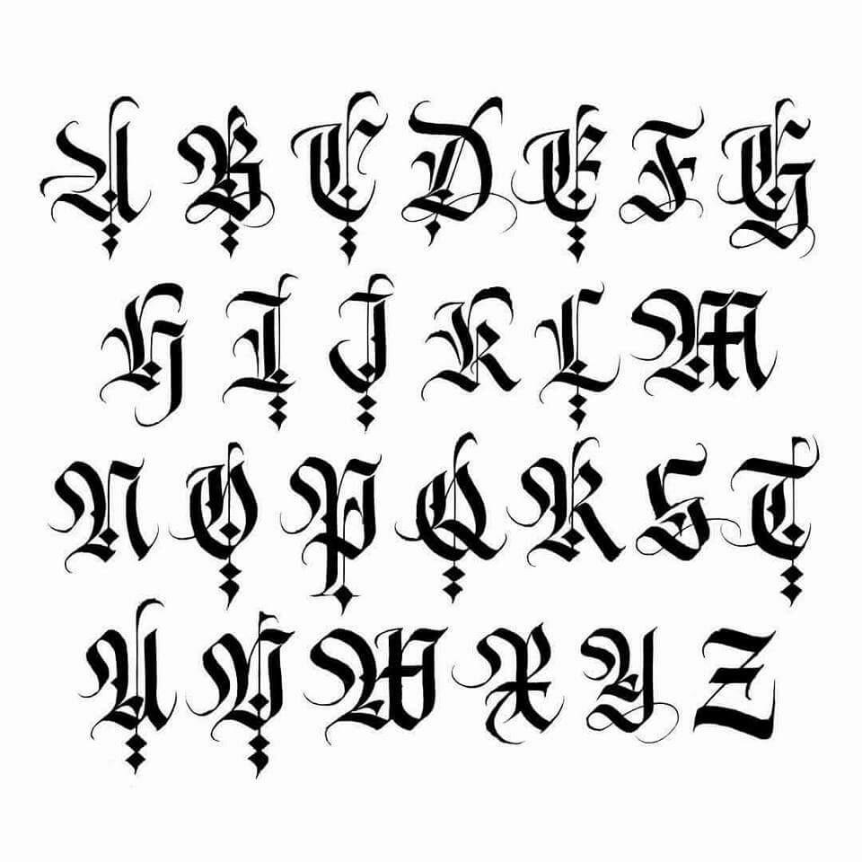 pisma gotyckie kurs
