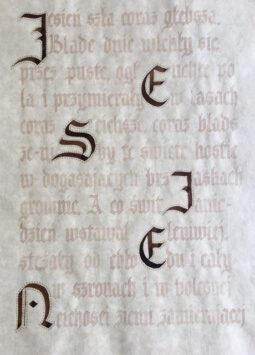 kaligrafia Anny Malesińskiej